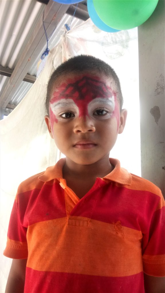 An excellent spiderman in one of the parties at the learning centres- the kids were definitely a highlight of volunteering