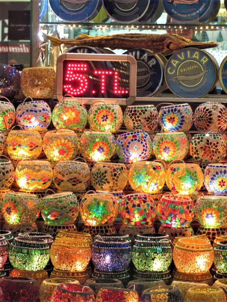 Turkish Lamps in Instanbul Market