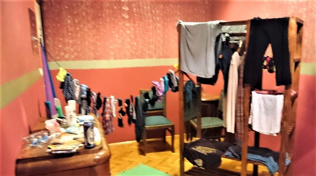 Our makeshift clothes line in the hostel- an eco-friendlier choice than a tumble-drier