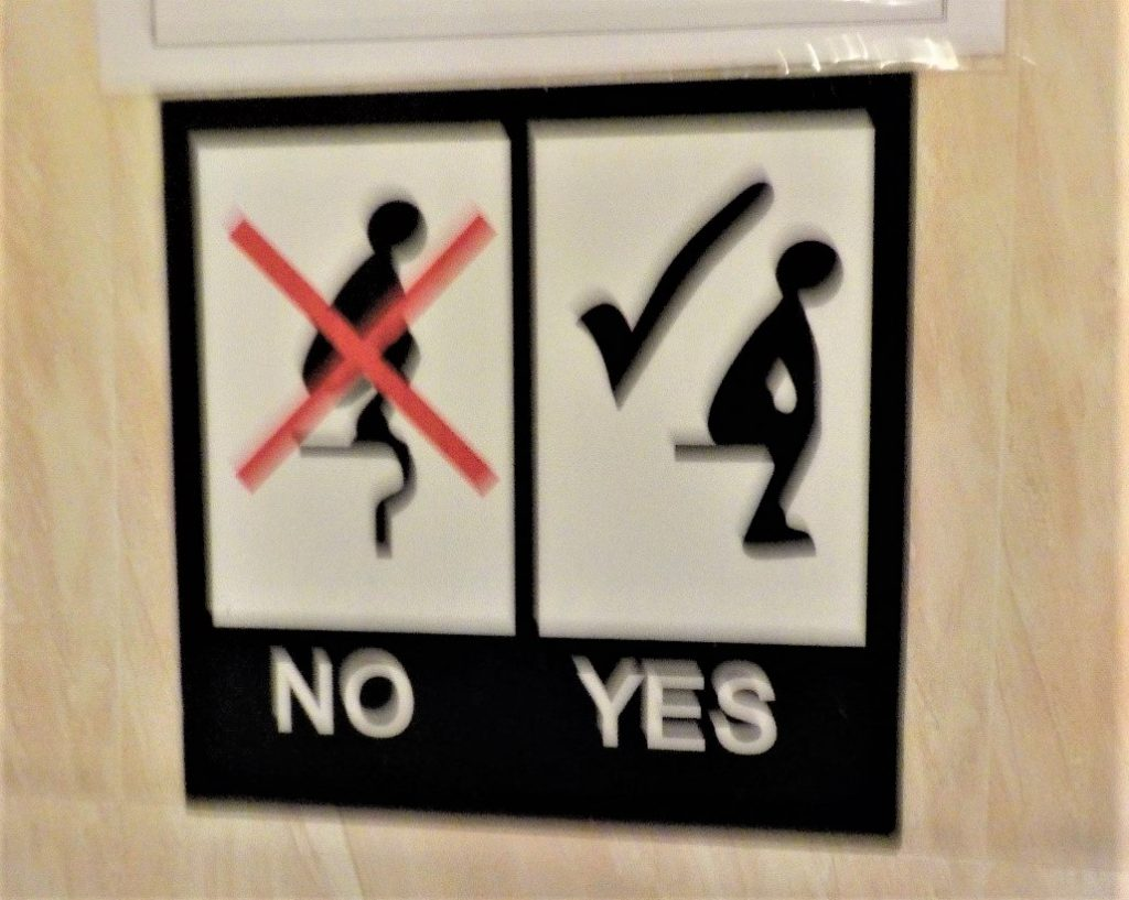 a blurry point but a valid point nonetheless taken from a toilet in Vietnam..Don't do this to public spaces in a hostel!!