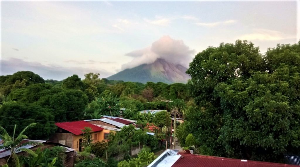Concepción volcano on Ometepe Island serving as a real example of the power of nature in Nicaragua