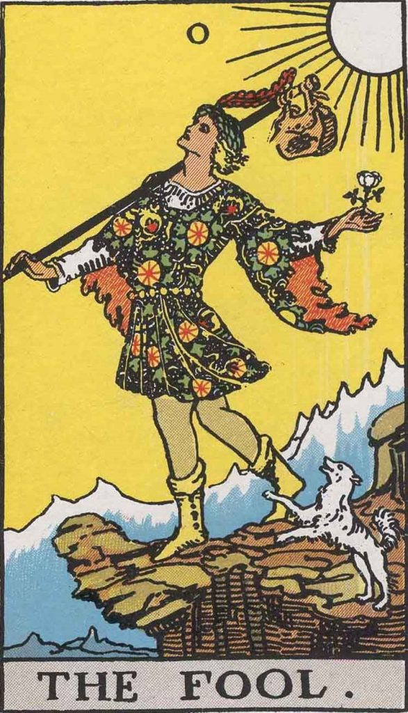 solo travel is a lot like the fool tarot card