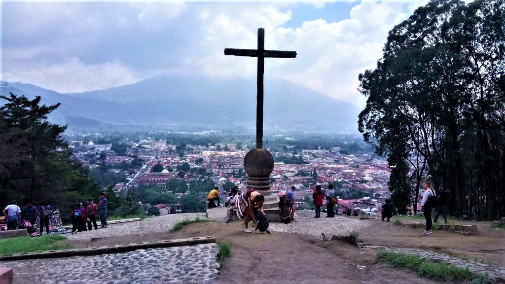 A trip up the hill to see Cerro la Cruz in Antigua, Guatemala with other solo female backpackers