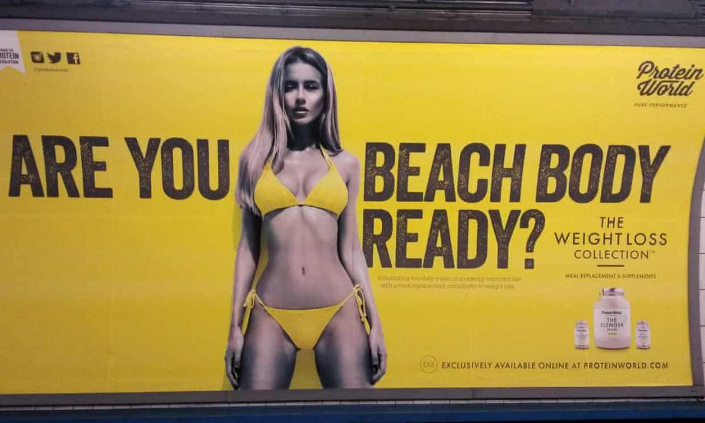 This Beach Body campagin sparked controversy amongst the body positivity movement, stating it was awful for body confidence.