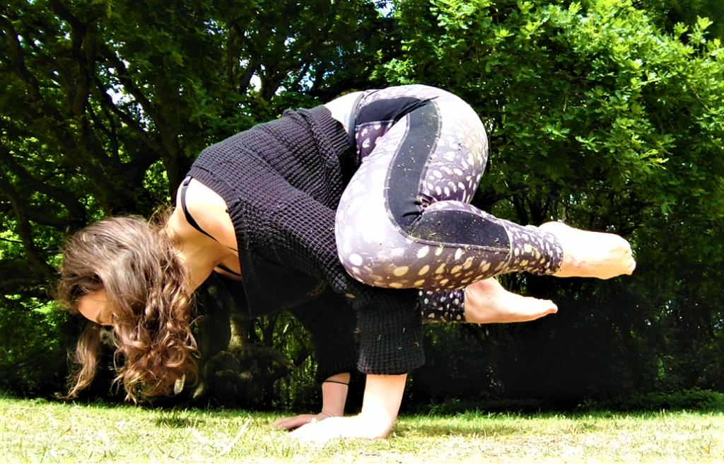 crow yoga pose